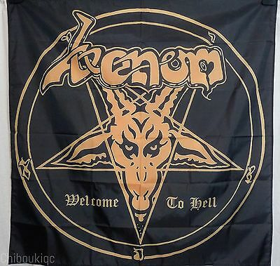 VENOM Welcome to Hell HUGE 4X4 banner poster tapestry album heavy metal