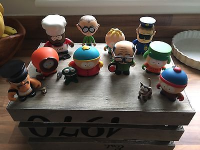10 Kidrobot x South Park Figures 2011 Pre Owned Simpsons Futurama Family Guy