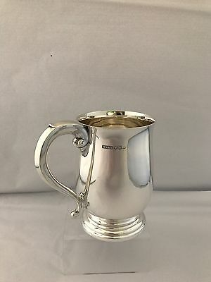 Large Solid Silver 1 Pint Tankard 1966 Sheffield