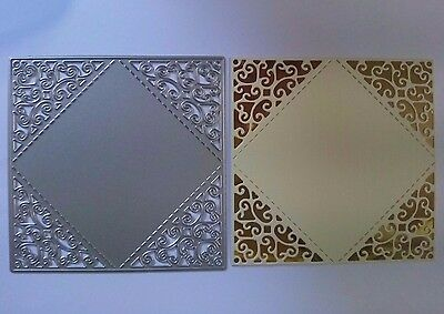 Square Filigree Panel Cutting Die Card Making Scrapbooking Embossing Craft Art