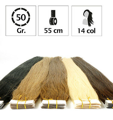 Extension Tape Bande Adhesive Cheveux 100% Naturels Indian Remy Hair 55Cm