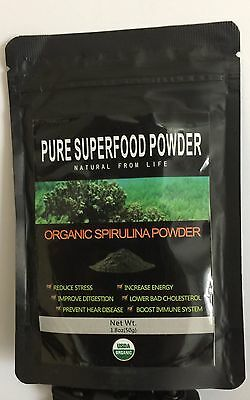 Spirulina Powder 100% USDA Certified Organic Pure Superfood, Vegan B12 Protein