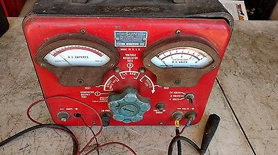 Vintage Sun volts ampere tester VAT-6 Amp and Voltage Alternator Tester
