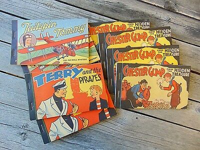 Lot of 8 Vintage Comic Story Book Premiums 1935 Whitman Publishing Co