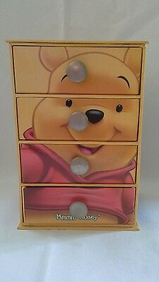Disney - Winnie the Pooh 4 Drawer Trinket Jewellery Storage Box