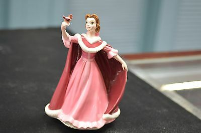 Hand-Painted Disney Collectible Beauty & The Beast Belle W Bird Musical Statue