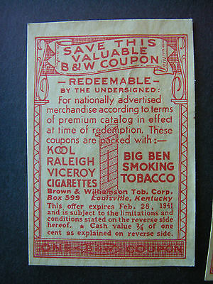 Vintage paper labels LOT OF 15 1940'S B&W COUPONS WWII ERA VICEROY Epherma