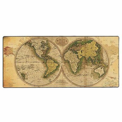 Cmhoo Large Extended Mouse Pad Gaming & Professional Computer Map of the WORLD