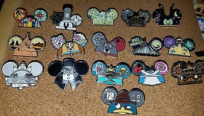 Disney Mickey Ear Hat Series Mystery Pack Set 16 Pin Complete Set NEW CUTE