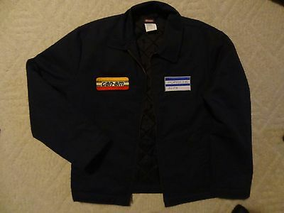 MENS Dickies Jacket w Vintage Can Am Good Year Oil Gas Car Racing Patch M