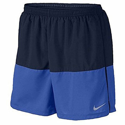"Mens Size 2XL Nike Flex 5"" Running Shorts Blue/Black 642804 016"