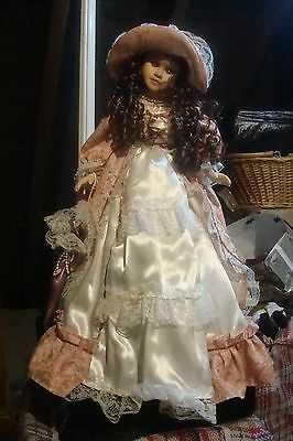 porcelain Tall Doll straight from display cabinet