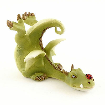 Green Dragon Playing with Ladybug - Top Collection Fairy Garden