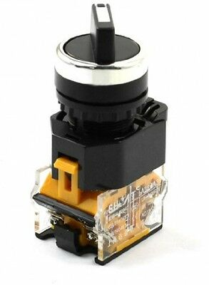 660V 10Amp 3 Selector Position Locking Action DPST Rotary Switch