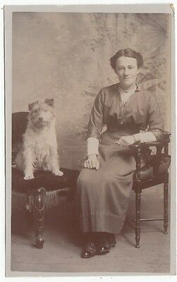 RP PC: Portrait of Young Woman with Terrier dog