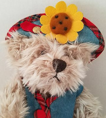 """Brass Button Teddy Bear Plush Blossom Pickford Bears Jointed Country Daisy 10"""""""