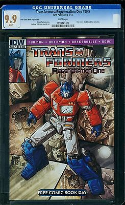 Transformers: Regeneration One 80.5 CGC 9.9 - White Pages - Cracked Out of CGC