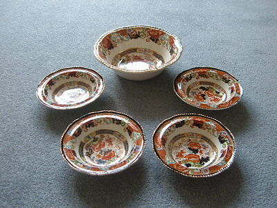 Antique Wood And Sons 19Th Cent. 'verona' Serving And Dessert Bowls - Exc. Cond.