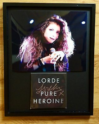 Lorde Hand Signed Autograph *Pure Heroine* New Royals Glory Gore Melodrama