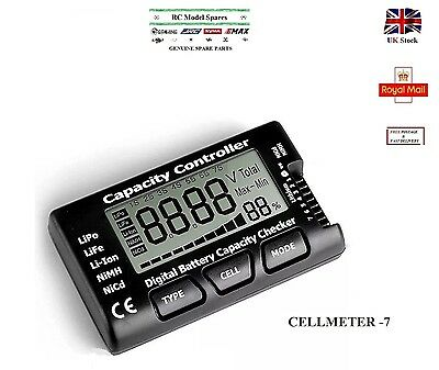 CellMeter 7 Digital Battery Capacity Controller Checker LiPo LiFe Li-ion NiMH UK