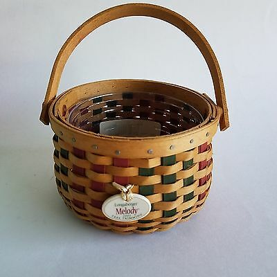 Longaberger 2003 Tree Trimming Collection Melody Basket & Tie On
