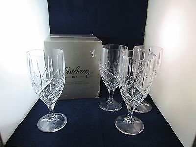 Gorham Set Of 4 Lady Anne Signature 14 Oz Iced Tea Glasses New In Box With Tags
