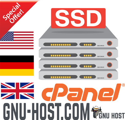 Unlimited UK SSD Web Hosting US Germany Web Gnu Host cPanel Cheap