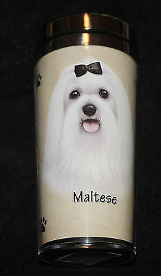 Maltese Dog Stainless Steel Insulated Travel Tumbler Thermos