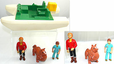 Vintage Fisher Price Adventure Peoples Figures And Accessories Lot   Fp7