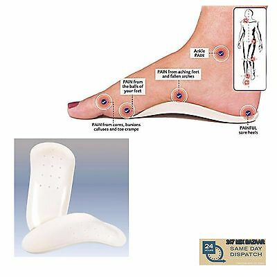 Orthotic Foot Support Insole For Men & Women Feet  Arches Pain Relief Care Heels