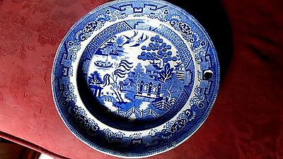 Georgian Copeland warming dish Willow Pattern VERY RARE c1810 condition VG