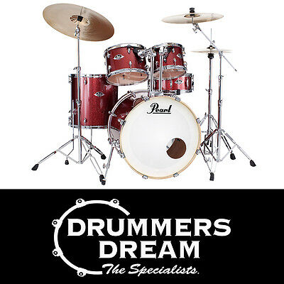"""Pearl Export EXX Series 5 Piece 20"""" Drum Kit Shell Pack in Black Cherry Glitter"""