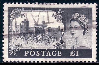 G-B QE2 1955 One Pound watermark Crown and E 2 R (8)