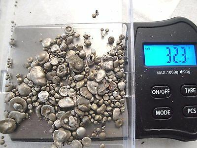 Large ALASKAN RAW Silver Nugget 97% or GREATER Purity 32.3 Grams