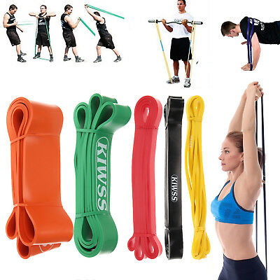 Heavy Duty Strech Resistance Band Loop Power Gym Fitness Exercise Yoga Workout