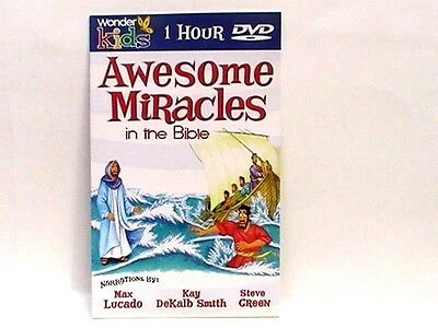 AWESOME MIRACLES IN THE BIBLE 1 HR DVD 8 Stories 11 SONGS Max Lucado NEW!