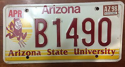 ASU Arizona State University License Plate Graphic Devil College Graduate- B1490