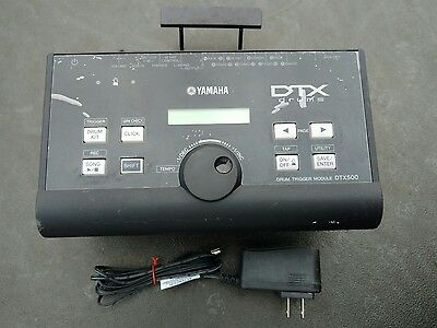 Yamaha DTX500 Electronic Drum Trigger Module With Mount - Excellent Condition!