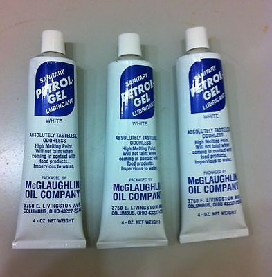 THREE 4 oz. Tubes Petrol Gel Sanitary Lubricant