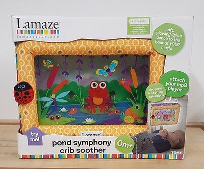 Lamaze Pond Symphony Crib Soother With 3.5mm Input for Iphone Android MP3