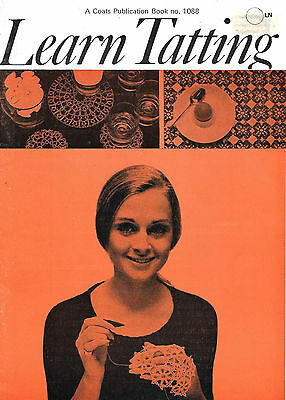 "Vintage book - ""Learn Tatting"" Book 1088 Published by Coats"