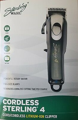 Wahl Cordless Sterling 4 Cord/Cordless Lithium Ion Clipper 100-240 Volts #8481