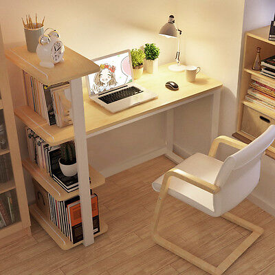 New Large Corner Computer Desk Workstation Office Home PC Table with bookshelf