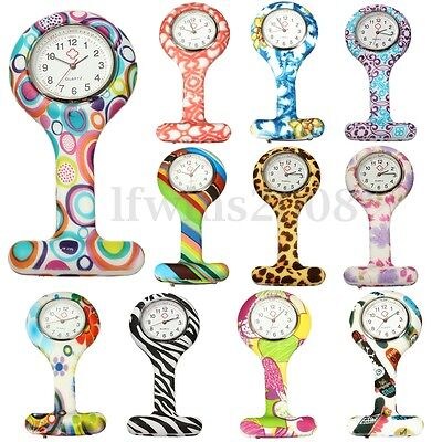 Silicone Montre Infirmière Fob Pince Epingle Attache Broche Imprime Nurse Watch