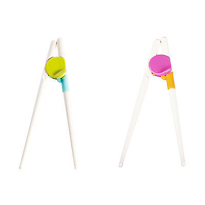 1 Pair Children Kids Beginner Chopsticks Training Helper Learning Easy Use Y9J7