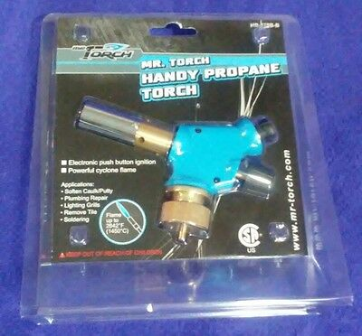 🔥 Mr. Torch Handy Blue Propane Mapp Tank Torch -⚡Electric Push Button - Dab 710