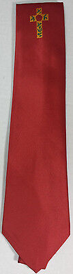 Silk Rose Croix Degree Tie Red with logo 100% Silk Made