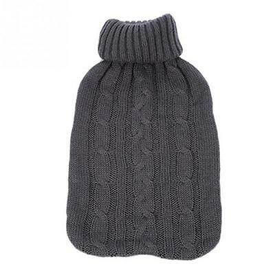 Knitted Cover for 2 Litre Hot Water Bottle Grey FREE POSTAGE