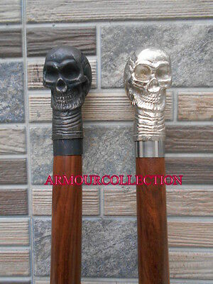 "Lot Of 2  Victorian 36"" Skull - Handle Folding Walking Stick/cane_Nauticvcals"