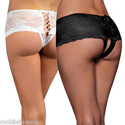 Women Panties Underwear Top Sexy Crotchless Open Crotch Knickers Thongs G String